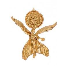 Златна обеца с фигурка на богинята Нике